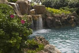 waterfall with a submersible pump