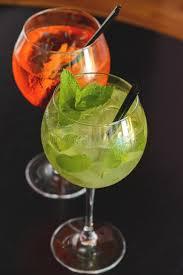 cocktail mojito plastic glass stock