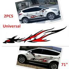 2pcs Flame Dragon Totem Modified Car Suv Side Body Vinyl Film Decal Stickers 71 Ebay