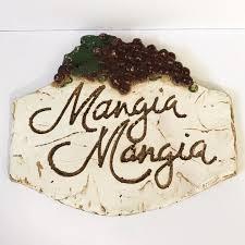 Wall Art Mangia Mangia Tuscan Kitchen Plaque Italian Accent Poshmark