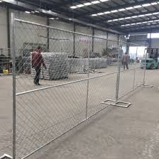 China 10 L X 6 H Construction Portable Mobile Temp Fence Chain Link Fence Panels China Temp Fence Panels Chain Link Fence Panels