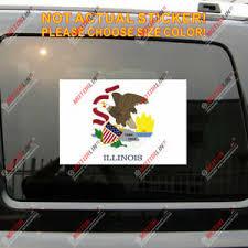 Illinois Flag Il Decal Sticker Us State Car Vinyl Reflective Glossy Pick Size Ebay