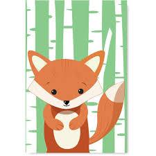 Awkward Styles Fox Unframed Poster Prints Girls Room Animal Decor Cool Kids Room Fox Wall Art