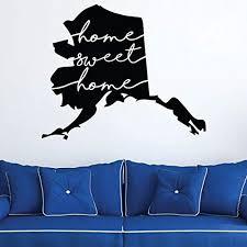Amazon Com Home Sweet Home Alaska Wall Decal State Silhouette Vinyl Art For Home Decor Living Room Or Family Room Decoration Handmade