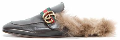 gucci brown princetown leather slipper