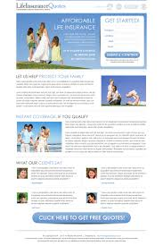 life insurance quote business lp life insurance landing page