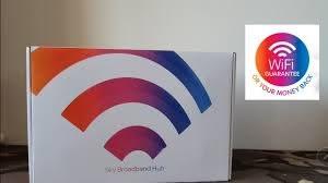 Sky Broadband Hub : WiFi Guarantee - YouTube