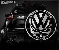 Vw Skull Decal Metallic Silver 5 Volkswagen Vinyl Car Window Sticker X9s Skull Decal Car Window Stickers Volkswagen