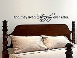 Amazon Com Love Quote Wall Decal And They Lived Happily Ever After Stenver Decals Bkm1 Home Kitchen