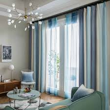 Blackout Curtains For Living Room Striped Rainbow Kids Bedroom Colorful Sheer Curtain Children Curtains Window Panel Treatments Curtains Aliexpress