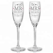 wedding etched wine glass bulk