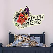 Official Angry Birds Wall Sticker Fierce Flock Decal Vinyl Mural Kids Bedroom Ebay