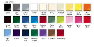 rust oleum 2x paint color chart rust
