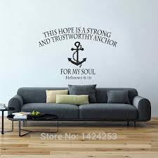 Battoo Bible Verse Large Wall Decals Hope Anchors The Soul Hebrews 6 19 Wall Stickers Scripture Vinyl Lettering Home Decor Large Wall Decal Wall Decalshome Decor Aliexpress
