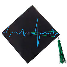 Heart Monitor Graduation Cap Decal 904 Custom