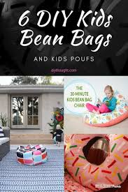 6 Diy Kids Bean Bags And Kids Poufs Diy Thought