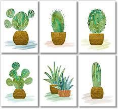 cactus wall art botanical prints