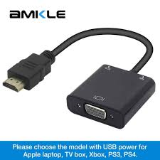 Amkle HDMI to VGA Adapter Cable HDMI VGA Converter Cable Support 1080P with  Audio Cable for HDTV XBOX PS3 PS4 Laptop TV Box cable hdmi hdmi to vgahdmi  to vga converter - AliExpress