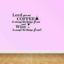 Coffee And Wine Serenity Prayer Quote Vinyl Decals Kitchen Decal Pc169 Walmart Com Walmart Com
