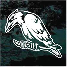 Perched Raven Decals Stickers Decal Junky