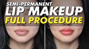 semi permanent lip tattoo permanent