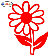 2020 Wholesale Car Styling Daisy Flower Car Stickers Reflective Vinyl Decals Motorcycle Accessories 9 4 12 7cm From Bulangying 23 12 Dhgate Com