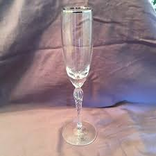 lenox crystal champagne glass with