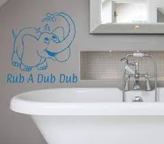 Amazon Com Diuangfoong Rub A Dub Dub Decal W Elephant Vinyl Wall Sticker Bathroom Wall Decor Kids Bathtub Decal Tubby Time Fun Sticker Elephant Shower Baby Bath Home Kitchen
