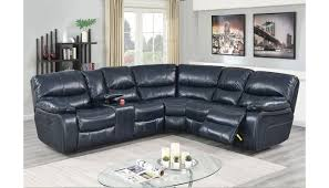 madelia ink blue leather power recliner