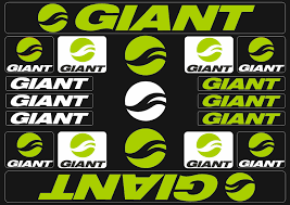 Giant Bicycle Frame Decals Stickers Graphic Adhesive Set Vinyl Green Ebay