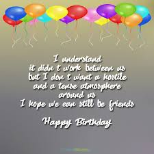 birthday wishes for ex boyfriend occasions messages