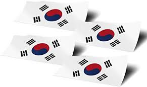 Amazon Com South Korea 4 Pack Of 4 Inch Wide Country Flag Stickers Decal For Window Laptop Computer Vinyl Car Bumper Scrapbook Korean 4 Arts Crafts Sewing