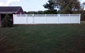 Fence Installation Vinyl Fence Installation In Hookstown Pa White Vinyl Spindle Top Fence