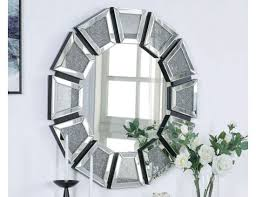 round crystal home decor wall mirrors