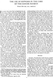 The use of hypnosis in the care of the cancer patient - Butler - 1954 -  Cancer - Wiley Online Library