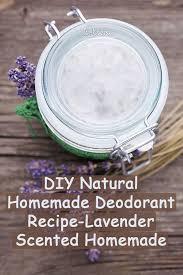 diy natural homemade deodorant recipe