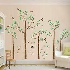 Five Family Tree Wall Decals Sticker Removable Vinyl Mural Art Kids Room Nursery Ebay