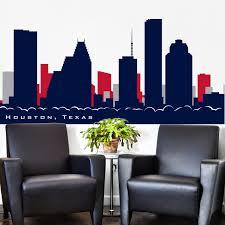 Wall Decal Skyline Houston Texas Football Team Colors Texans