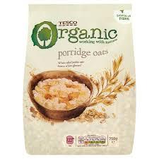 calories in tesco organic porridge oats