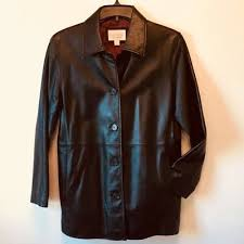 lambskin leather coat womens size