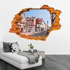Huge 3d View Creative Wall Decals Removable Vinyl Window Wall Stickers Decor