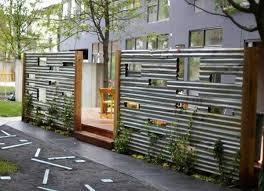15 Superbly Creative Diy Fence Design Ideas Privacy Fence Designs Corrugated Metal Fence Fence Design