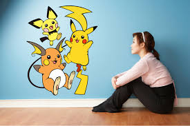 Pokemon And Friends Adorable Disney Character Wall Art Graphic Decal Sticker Vinyl Mural Baby Kids Room Bedroom Nursery Kindergarten School House Home Wall Design Removable Peel And Stick 40x20 Inch Walmart Com