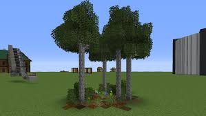 You Can Make Some Thinneer Custom Birch Trees Using Diorite Walls Minecraft