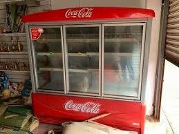coca cola commercial triple glass doors
