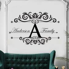 Family Name Wall Sticker Personalized Family Names Wall Decal Modern Design Wall Mural Home Bedroom Decor Vinyl Wall Art Ay1203 Wall Stickers Aliexpress
