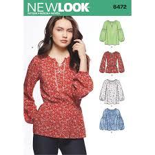 new look 6472 misses boho blouses