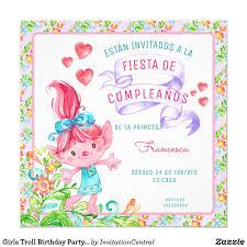 Invitacion Chicas Invitan A Fiesta De Cumpleanos Zazzle Com En
