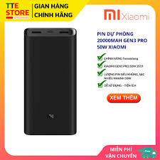 Pin Sạc Dự Phòng 20000mAh Xiaomi Gen 3 - CHÍNH HÃNG XIAOMI - TTE