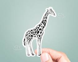 Giraffe Stickers Etsy